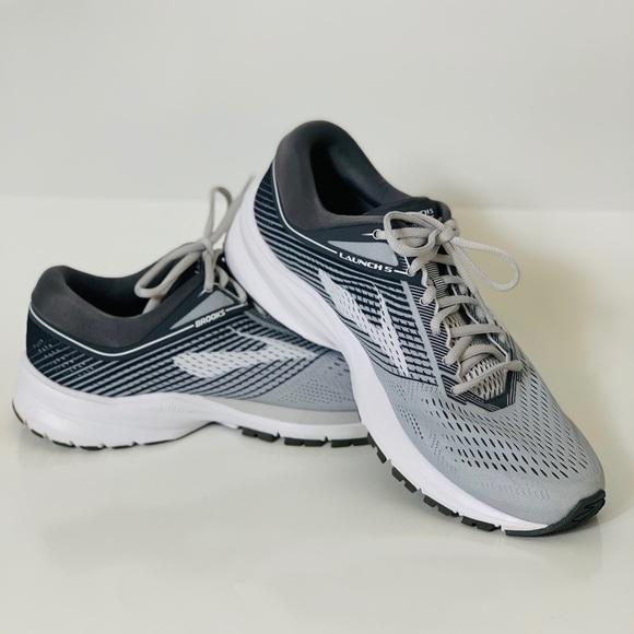 Launch 5 Womens Gray Running Sneaker Sz